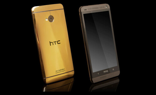 The 24ct. gold plated HTC One