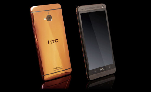 The 24ct rose gold plated HTC One