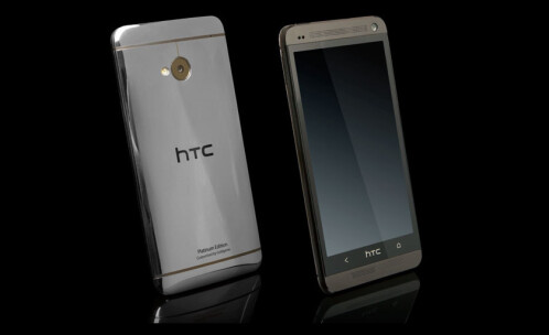 The platinum plated HTC One