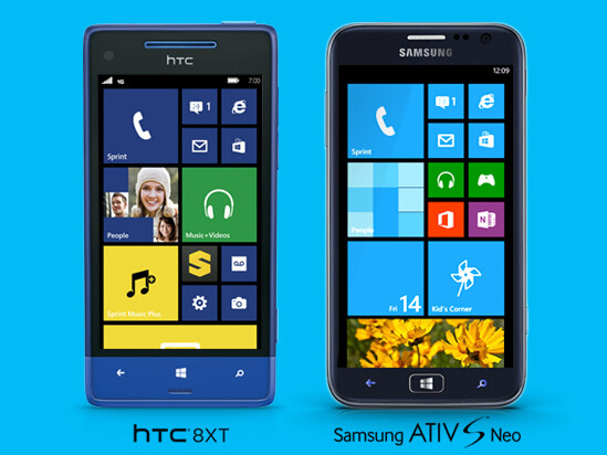 Sprint gets its first Windows Phone 8 devices: HTC 8XT and Samsung ATIV S Neo