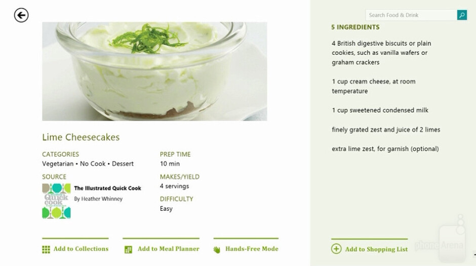 Bing Food & Drink on Windows 8.1 - Bing Food & Drink to debut in Windows 8.1, foodies take note