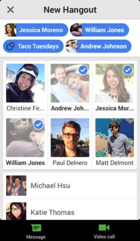 Screenshots, Google Hangouts for iOS