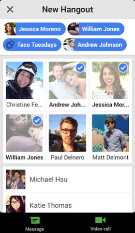 Screenshots, Google Hangouts for iOS - Google Hangouts gets update for iOS version
