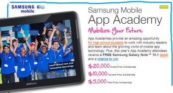 Samsung is looking for students with great ideas for mobile apps
