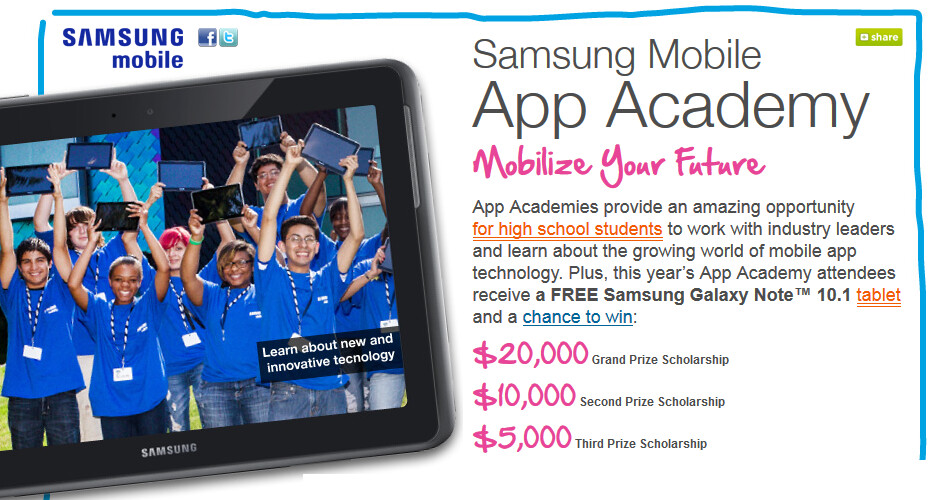 Samsung is looking for students with great ideas for mobile apps - Samsung takes to the road to find students with great ideas for an app