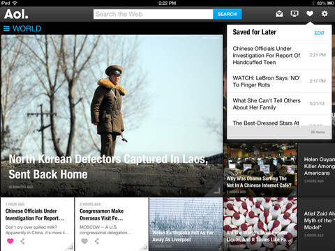 AOL for iPad