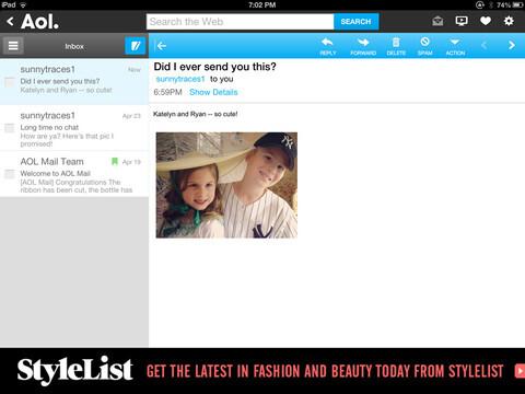 AOL for iPad