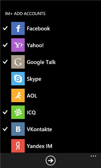 IM+ on Windows Phone