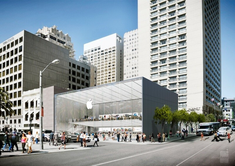 Artist's rendering of Apple's new Union Square store in San Francisco - Apple forced to make changes to the design of its new San Francisco store