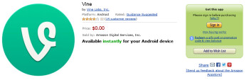 Vine is now available for the Amazon Kindle Fire