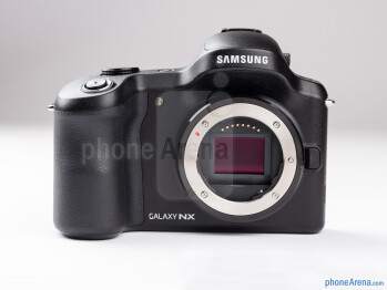 The Samsung Galaxy NX features interchangeable lenses - There is just a single dial on top