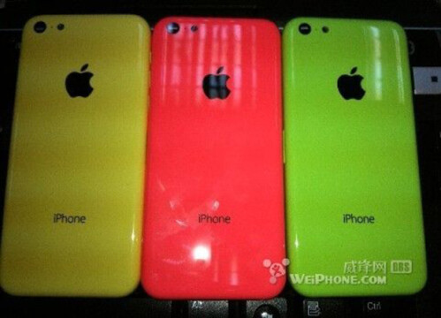 alleged yellow and red chassis for the budget iPhone leaks out