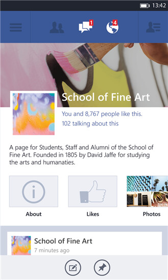 Official Facebook app for Windows Phone updated with new UI