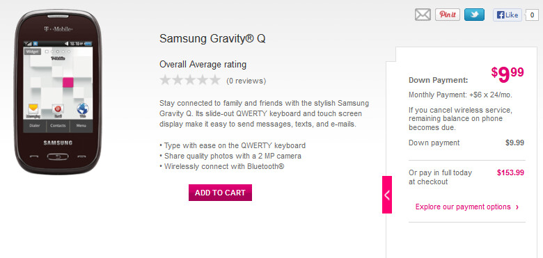The Samsung Gravity Q - Defying Gravity: T-Mobile launches Samsung Gravity Q