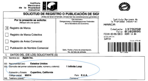 Apple files for iWatch trademark in Mexico