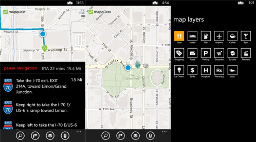 MapQuest - Windows Phone - Free