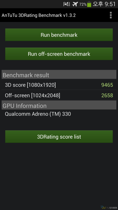 AnTuTu 3D Rating benchmark