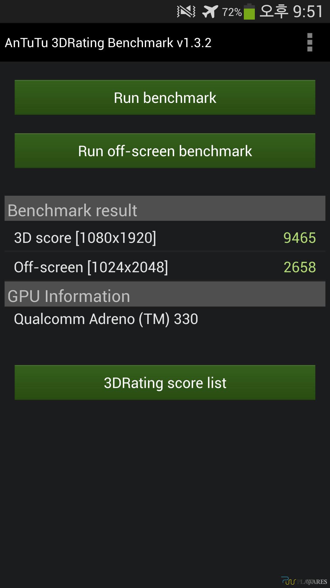 AnTuTu 3D Rating benchmark