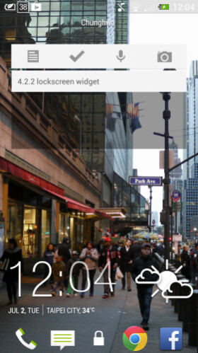 HTC One running Android 4.2.2