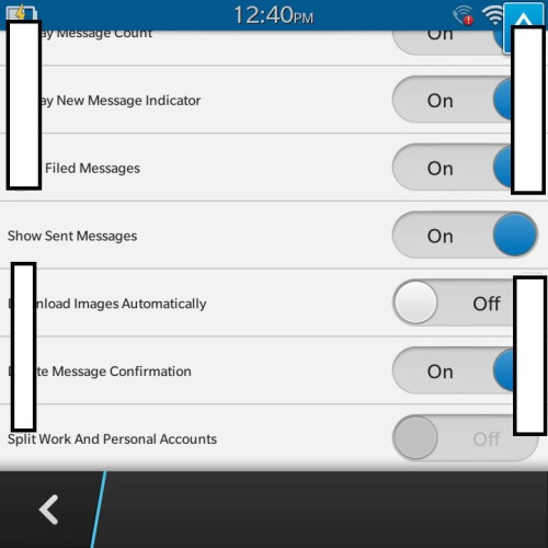 Leaked screenshots of BlackBerry 10.2