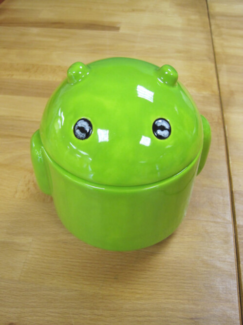 Android Ceramic Jar - $22.00