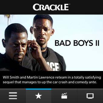 "Crackle for BlackBerry 10 smartphones""&nbsp"