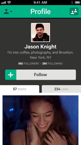 Screenshots from Vine for iOS