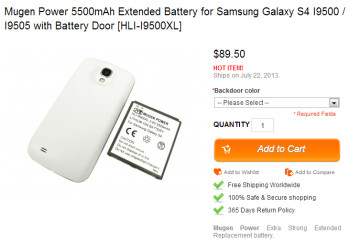 Pre-order your 5500mAh extended battery for the Samsung Galaxy S4