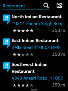 Screenshots from HERE Maps for the Nokia Asha 501