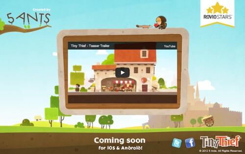 Tiny Thief a new Rovio Stars game, coming July 11th