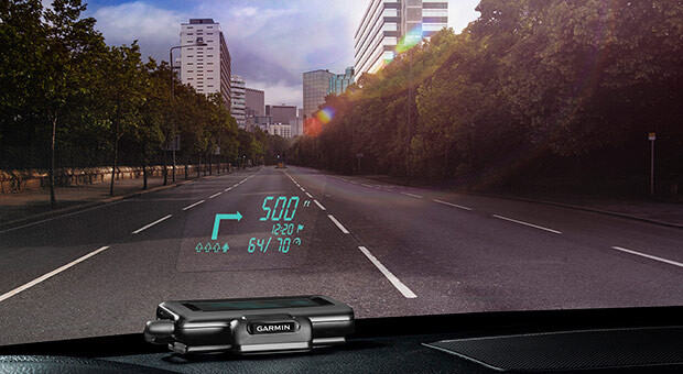 Garmin outs a $130 HUD display for your windshield that pairs with phone navigation apps