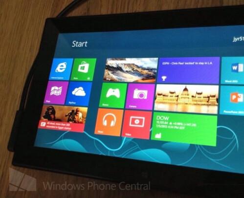 Nokia Windows RT prototype