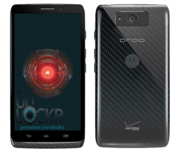 Back and front rendering of the Motorola DROID Ultra