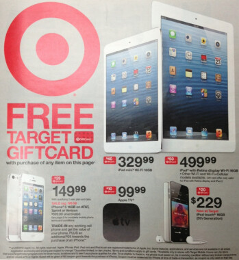 Target is offering gift cards to those buying certain Apple devices