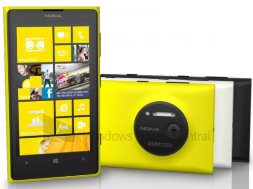 Latest renders of the Nokia Lumia 1020