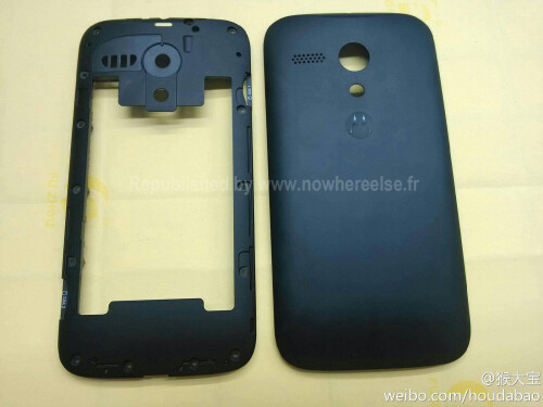 Leaked images of the Moto X back panel