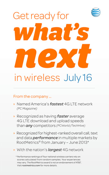 "AT&T sending out press invites to see ""what's next in wireless"" on July 16th"