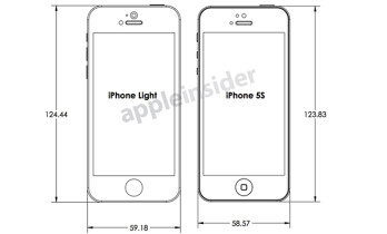 Leaked diagrams of the Apple iPhone 5S and the low-cost Apple iPhone