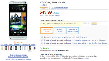HTC One price slashed to $49.99