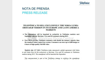 Telefonica to get exclusive 64GB Nokia Lumia 1020 for European and Latin-American markets
