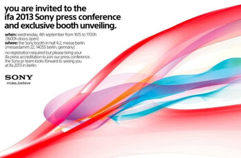 Sony invites press for September 4th event: is the Honami coming?