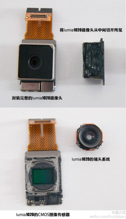 Nokia Lumia 1020 camera sensor detailed