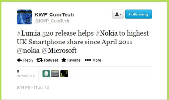 Nokia is on the rise in the U.K.