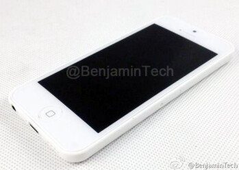 Two contenders for the title of Apple iPhone Lite in white