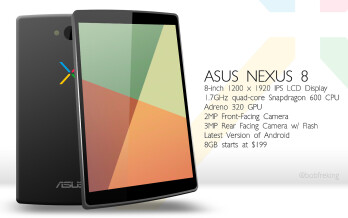 Rumors of a Nexus 8 joining the lineup in the fall seem too baseless for us