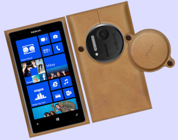 Have your Nokia Lumia 1020 enjoy the feel of leather on its rear...facing camera that is