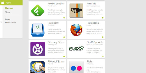 Google Play Store brings Android UI to the web