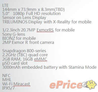 Claimed Xperia i1Honami cameraphone press renders leak, Sony Lens G tech on the back