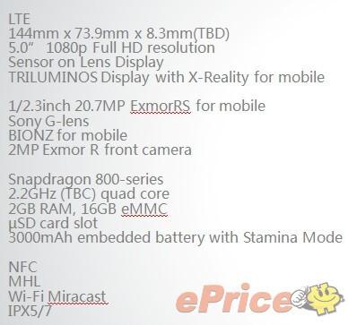 Claimed Xperia i1Honami cameraphone press renders leak, Sony Lens G tech on the back