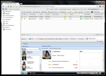 The 3CX Mobile Device Manager admin UI runs in a web browser